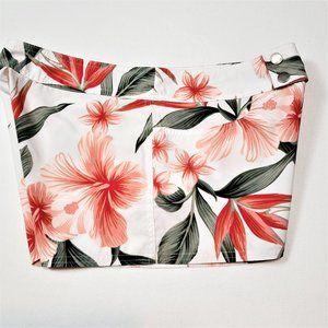 Hawaiian Print Swim Shorts Women's Size Medium